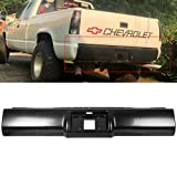 HECASA Black Steel Bumper Roll Pan Compatible with 88-98 Chevrolet Chevy...
