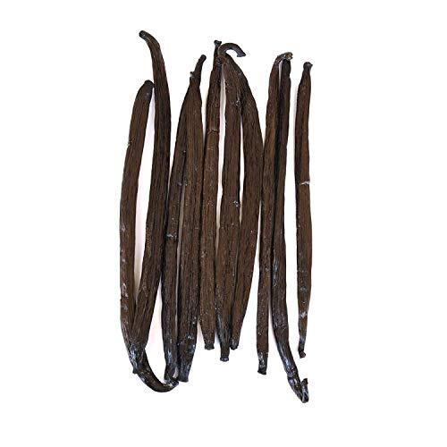 Native Vanilla Bourbon-Vanilleschoten - 10 17-22 cm Vanilleschoten aus ganzen Schoten - Für Köche und zum Backen, Kochen und Extrahieren zu Hause