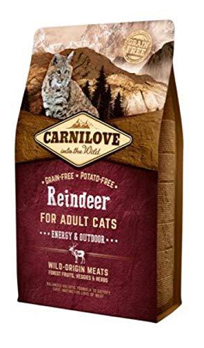 Carnilove 512256 Trockenfutter für Katzen Erwachsene Reno 2 kg Trockenfutter für Katzen (Adulto, Reno, 2 kg, Allrad)