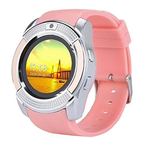 Zhou-YuXiang Pratico Orologio da Uomo Impermeabile con Fotocamera Smartwatch Pedometro Monitoraggio della frequenza cardiaca Orologio da Polso con Scheda SIM