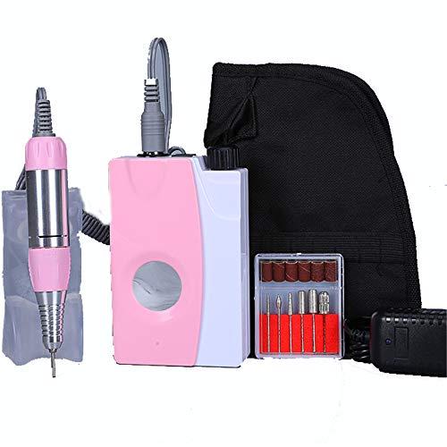 ZYC Potente, se puede colgar rápidamente en el cinturón y en la cintura, funcionamiento de larga duración con spray de agua Jd400, taladro de uñas 30000 rpm.