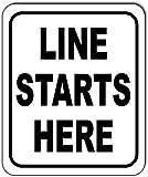 LINE Starts HERE Aluminum Composite Outdoor Sign 8.5' x10'