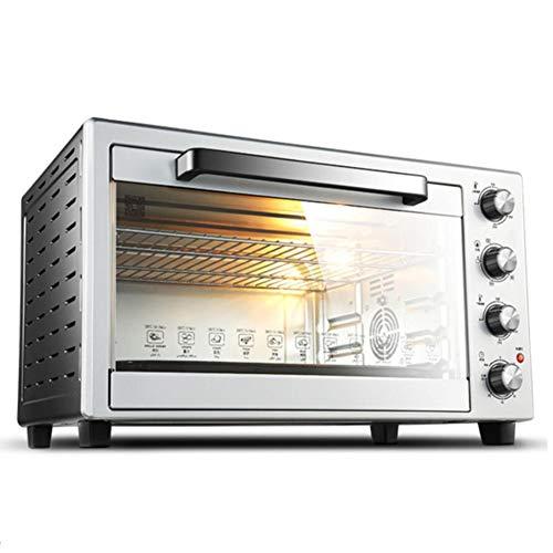 BTSSA Mini Four électrique • 60 L • 4 plaques Amovibles • 2600 W • température jusqu'à 230°C • 5 éléments Chauffants • tournebroche • minuterie • vitrage de sécurité • INOX