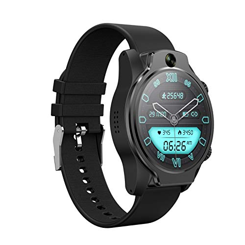 4G LTE Network Smart Watch, Mobile GPS 3GB 32GB Reconocimiento Facial MP2 Cámara WiFi Smart Watch IP68 Reloj Deportivo Al Aire Libre Impermeable para Android,A