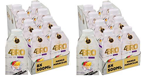 16 Packungen 4 Bro Ice Tea Mango Maracuja a 0,5l Eistee ( 16 x 0,5l )