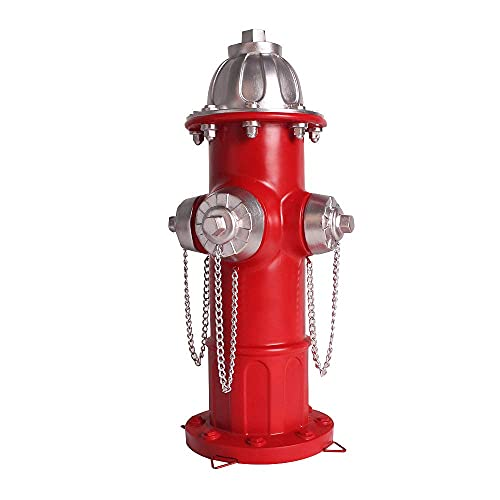 Dog Fire Hydrant Statue Puppy Pee Post and Gift for Fireman, Fire Hydrant Garden Decor Statue Large, Fire Hydrant for Dog Full Color 14 inches