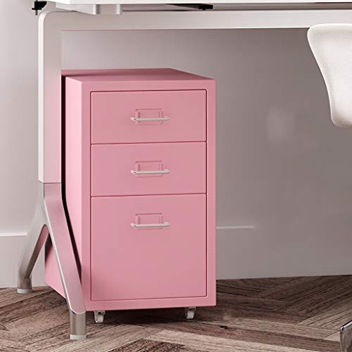 3 gesloten ladekasten, roze lades set systeembox vak voor gegevens 280 × 410 × 485 mm 1.3mm thickness