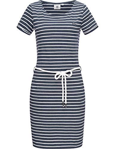 Peak Time Damen Jersey Sommerkleid Strandkleid L80022 Blue Melange Stripes Gr. L