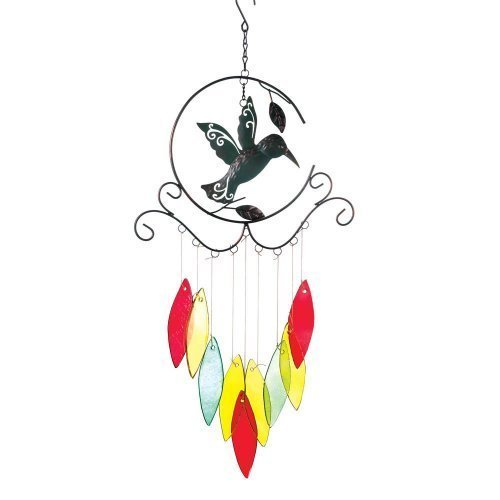 Home Locomotion Hummingbird With Glass Chimes by Home Locomotion