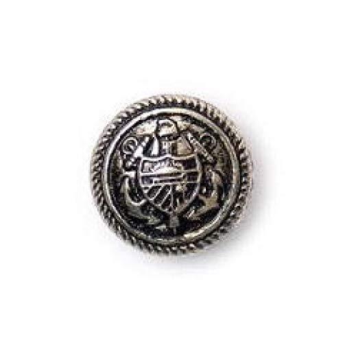 Crendon Silberknöpfe im Militärstil mit Wappen, 25Stück