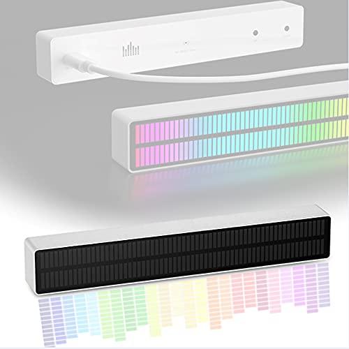 ZHJIUXING ST MúSica Espectro Interruptor Remoto, Music Audio Espectro Panel Vidrio Templado, Indicador Nivel Audio MúLtiples Efectos De VisualizacióN