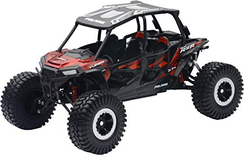 New-Ray 959-0125 Replica 1:18 Utv Polaris Rzr 4 Turbo Xp Rc Red