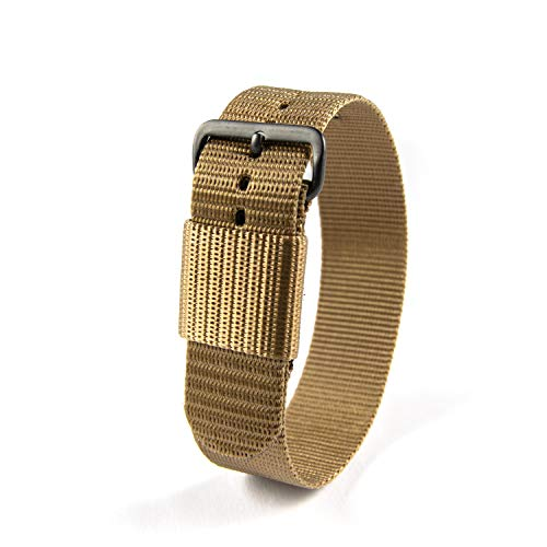 """Marathon WW005003DT Ballistic Nylon Watch Band, Military Grade with Stainless Steel, Non-Magnetic Buckle (W: 20MM L: 11"""", Desert Tan)"""
