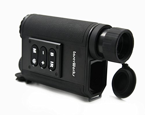 Night Vision Range Finder 6 x 32 Multifunction Infrared Hunting Outdoor IR Laser Rangefinder - Black