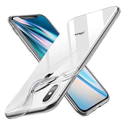 Custodia Compatibile con iPhone X/iPhone XS, Clear Ultra Sottile Silicone Morbido Case Cover, Anti-ingiallimento e Antiscivolo Custodia per iPhone X/iPhone XS - Trasparente
