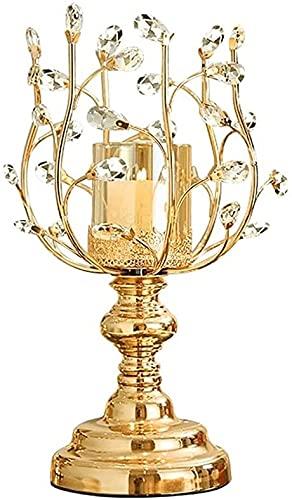 Creative Lotus Candlestick Glass Glass Harde Holder Boda Cocina Mesa Casa Decoración Candlestica (Size : 18.8in/48cm)