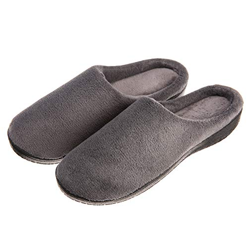 OUPEI Men's Soft Comfort Coral Fleece Memory Foam House...