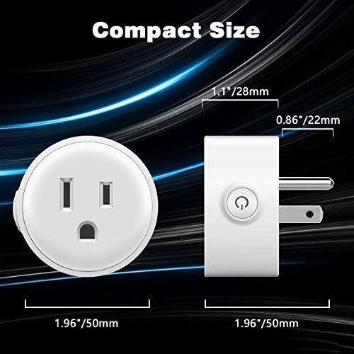 Preisvergleich Produktbild Intelligenter Stecker,  Wi-fi-fähige Mini Steckdosen Intelligente Steckdosen Kein Hub Erforderlich
