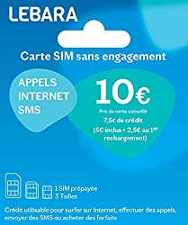 7€50 available credit: 5€ bought + €2.50 credit offered from the first reload. Prepaid use on the card: international calls and SMS / internet (1) International and international calls from your mobile from 1ct/min (1) Packages to call anywhere in th...