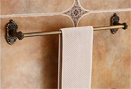 ZYC Juego de accesorios de baño de bronce antiguo tallado de aluminio para baño, toallero, portarrollos de papel higiénico, ganchos, 2 unidades