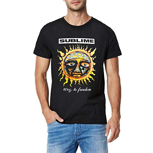Sublime 40oz to Freedom Mens T-Shirt Crew Neck Short Sleeve Tees