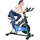Afully Exercise Bike Indoor Cycling Bike Stationary Bike with Adjustable Resistance,LCD Monitor,Pad/Phone Holder, Comfortable Cushion Stable, for Gym Home Cardio Workout (A180-3)
