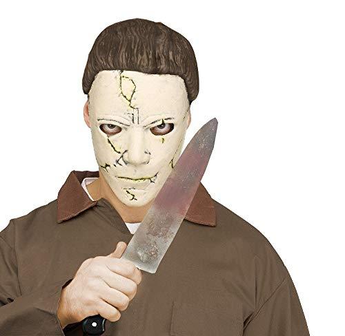 shoperama Michael Myers - Juego de máscara y cuchillo para Halloween, película de terror asesino asesino