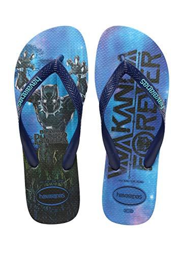 Havaianas Unisex Top Marvel Flip Flop Sandal, 9-10 US Men Blue