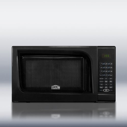 Summit Appliance Mid-Sized Microwave Oven with Black Finish