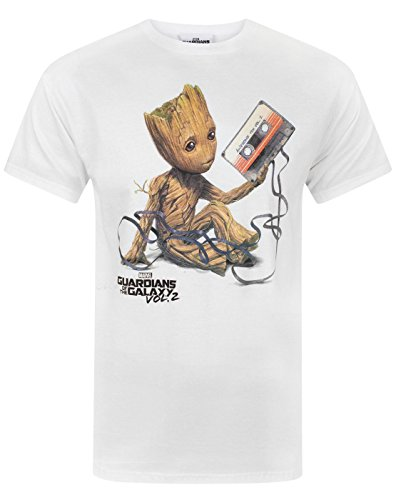 Guardians of the Galaxy Vol 2 Groot Tape Men's T-Shirt (L)