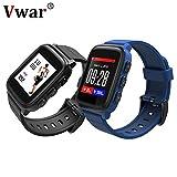Vwar SMA Q2 IP67 Wasserdichte Smartwatch Bluetooth Pulsmesser GPS Sport Smart Watch Mode Armbanduhr für Android iOS (Orange)