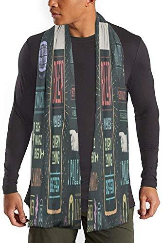 Katoenen sjaal collectie Grappig bier Unisex Chunky sjaal Wrap sjaal klassieke warme deken sjaal comfortabele sjaal Wrap voor kamperen hardlopen klimmen
