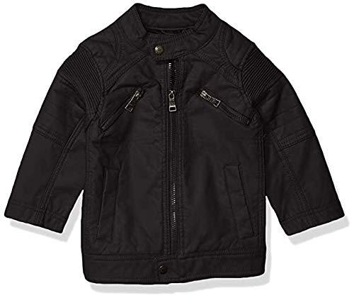 Urban Republic Little Boys Faux Leather Jacket, Black, 4