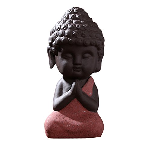 VORCOOL Buddha Statue Sculpture Hand Carved Fengshui Figurine Craft Car Display Ornament Home Decor (Random Style/Color)