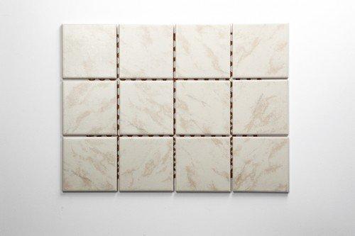 Keramikmosaik beige marmoriert 10x10x0,6cm