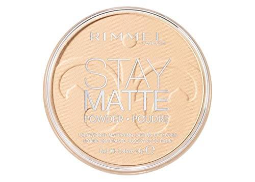 Rimmel - Cipria Compatta Stay Matte - Polvere Opacizzante a Lunga Tenuta per Pelli Grasse e Miste - Trasparente - 14 g