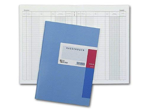 König & Ebhardt 8610241 Geschäftsbuch / Kassenbuch (A4, Einnahmen/Ausgaben, 3 Spalten, 80g/m², 40 Blatt Drahtheftung)