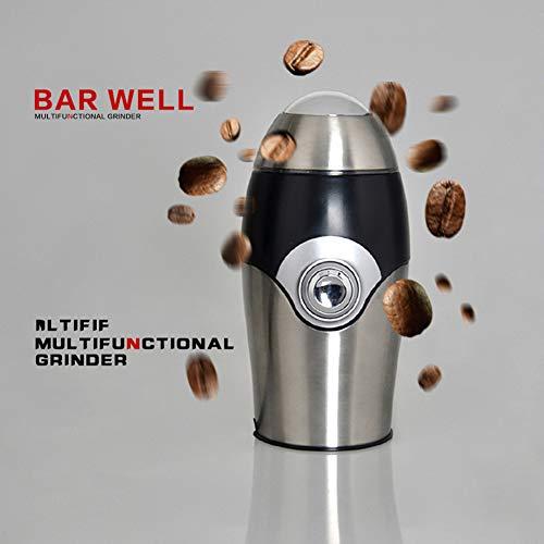 WANGXL Molinillo De Café Cuchilla EléCtrica Molinillo De Café con Cuchillas Dobles Recipiente Lavable Adecuado para Café En Grano Tuerca De Especias 150w Capacidad 50g