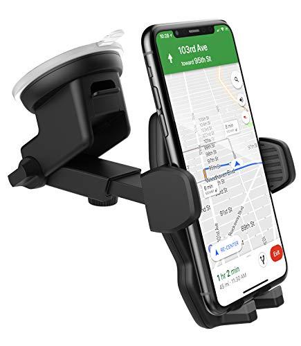 ENCASED Car Mount iPhone XS Max Phone Holder - Beschermhoes Friendly verstelbare dock, 2018 Apple iPhone XS Max compatibel (met 3 bevestigingsmogelijkheden: Vent/Windshield/Dashboard Disk)