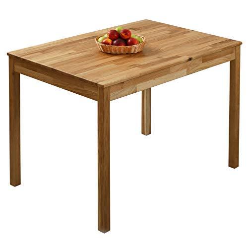 krokwood tomas massivholz esstisch in eiche 110x75x75 cm fsc100 massiv tisch geolt eichenholz esszimmertisch kuche