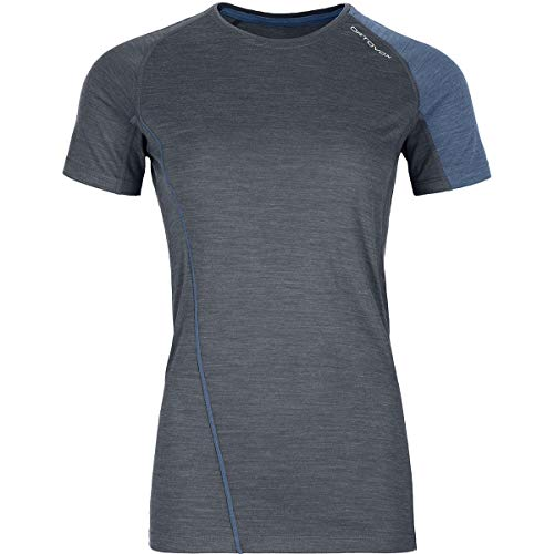 ORTOVOX Damen 120 Cool Tec Fast Forward T-Shirt, Black Steel Blend, S