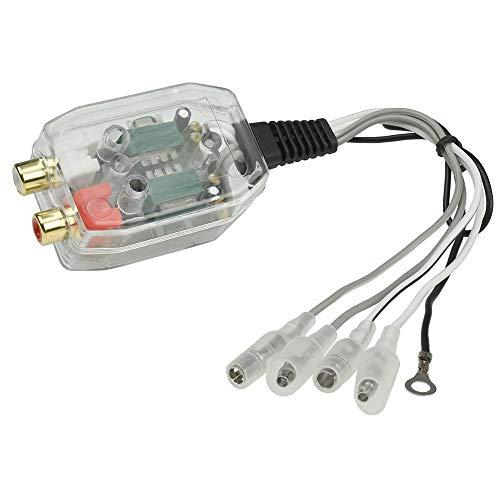 maxxcount 2-Kanal High-Low Converter | Belastbarkeit: 2X bis 30 Watt | Pegel regelbar | Lautsprecher-Signale auf 2X Cinch (Vorverstärker-Ausgänge)