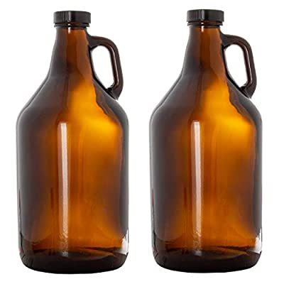16oz Glass Beer Bottles for Home Brewing with Flip Caps and Funnel - Amber or Clear Colors in Pack of 6 or 12