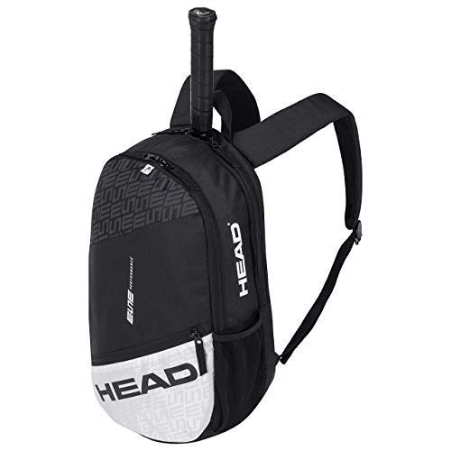 HEAD Unisex's ELITE Backpack Tennis Bag, Black/White, One Size