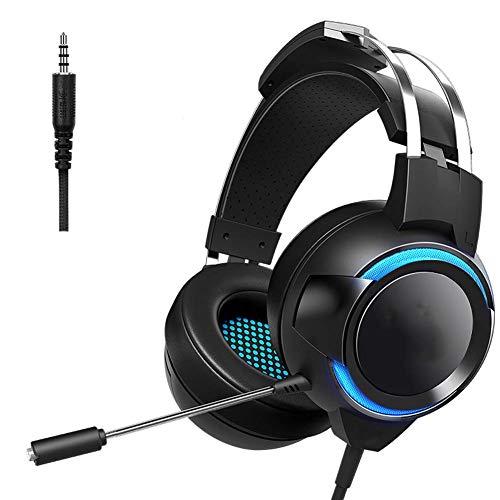 Auriculares, auriculares inalámbricos plegables, micrófono y control de volumen, impermeable, reducción de ruido, para teléfono/ordenador portátil/PC/TV (color: negro)