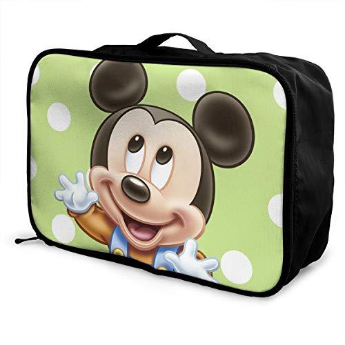 Meirdre - Borsone da viaggio per bambini, motivo: Topolino e amici, leggero, grande capacità, portatile, borsa per weekender durante la notte