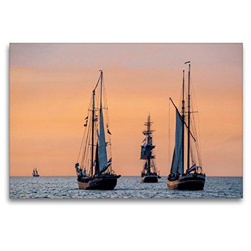 Cortavientos en el mar Báltico con luz de Noche, 120 x 80 cm