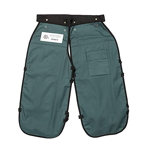 FORESTER Chainsaw Safety Chaps with Pocket, Apron Style (Short 35', Forest Green)