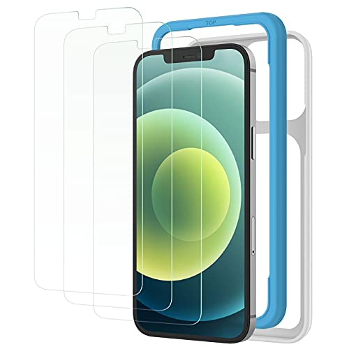 NIMASO ガラスフィルム iPhone12 / iPhone 12 Pro / 11 / XR 用 保護 フィルム ガイド枠付き 3枚セット NSP18H17