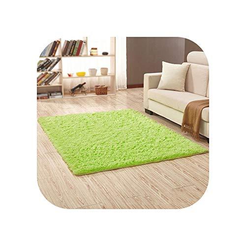 Living Room Rugs | Modern Black Color Carpet Shaggy Plush Floor Fluffy Printed Mats for Kids Faux Fur Area Rug Living Room Mats Absorption -green-40x60cm
